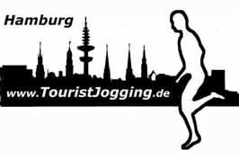 Tourist jogging Hamburg